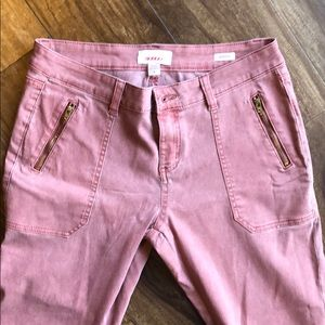 adorable salmon/rust colored jegging